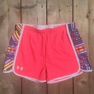 Neon Pink Under Armour Athletic Shorts